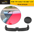 MK7 O styling Carbon fiber rear roof boot lip wing spoiler for VW Golf VII MK7 GTI & R 2014UP