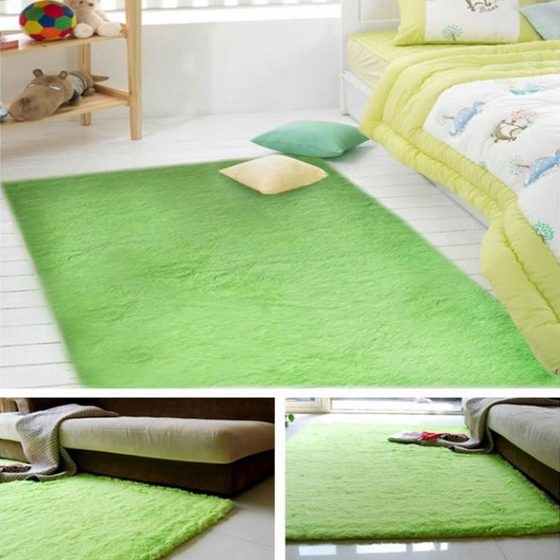 Chaude 140x200cm peluche doux tapis tapis de sol enfants tapis 2CM fourrure Shaggy tapis pour salon chambre maison tapis décoratifs - 5
