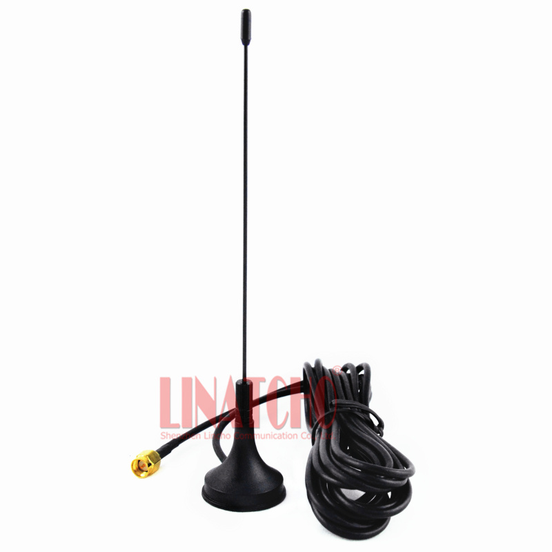 400-470MHz uhf omni magnetic base antenna, uhf walkie talkie antenna extension sma male connector with 3M cable