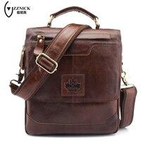 ZZNICK Genuine Leather Men Bags Casual Men S Messenger Bag Flap Shoulder Crossbody Bags Male Men
