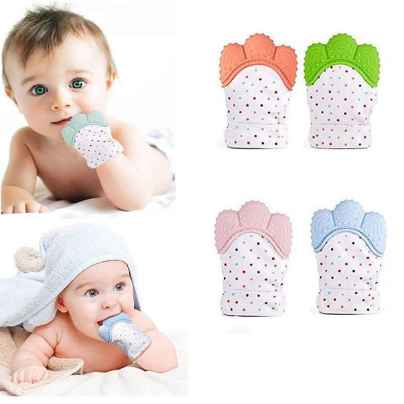 HARKO Baby Teether Safe Silicone Mitts Teething Mitten baby glove teether Candy Wrapper Sound Teether 1pcs baby silicone teething mitten beads oyuncak baby glove teether baby newborn toys 0 12 months brinquedos para bebe