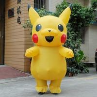 Pikachu Aufblasbare Kostüm Erwachsene Pokemon Große Maskottchen Cosplay Halloween-kostüme für Frauen Purim carnaval disfraces