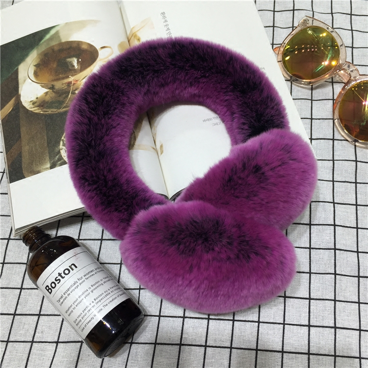2019 New Body Of The Whole Skin Rex Rabbit Hair Couple Earmuffs Fur Care Ear Cover Winter Warm Ears Cover Men And Women Earrings