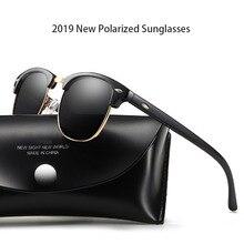 2019 novo clássico polarizado óculos de sol das mulheres dos homens retro marca designer óculos de sol feminino masculino moda espelho