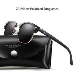Image 1 - Новинка 2019, Классические поляризованные солнцезащитные очки для мужчин и женщин, Ретро стиль, фирменный дизайн, солнцезащитные очки для женщин и мужчин, модные зеркальные солнцезащитные очки
