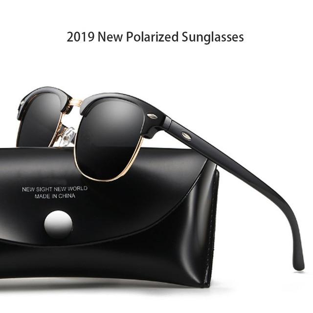 Новинка 2019, Классические поляризованные солнцезащитные очки для мужчин и женщин, Ретро стиль, фирменный дизайн, солнцезащитные очки для женщин и мужчин, модные зеркальные солнцезащитные очки