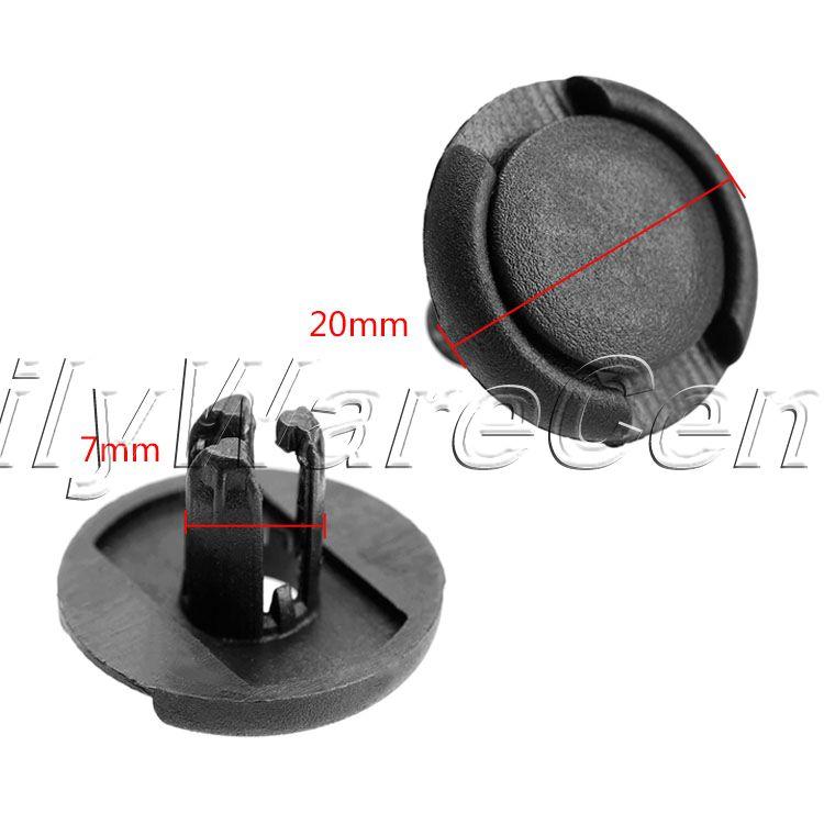 50 Teile / los Auto 7mm Loch Kunststoffnieten Verschluss Push Clips - Auto-Innenausstattung und Zubehör - Foto 2