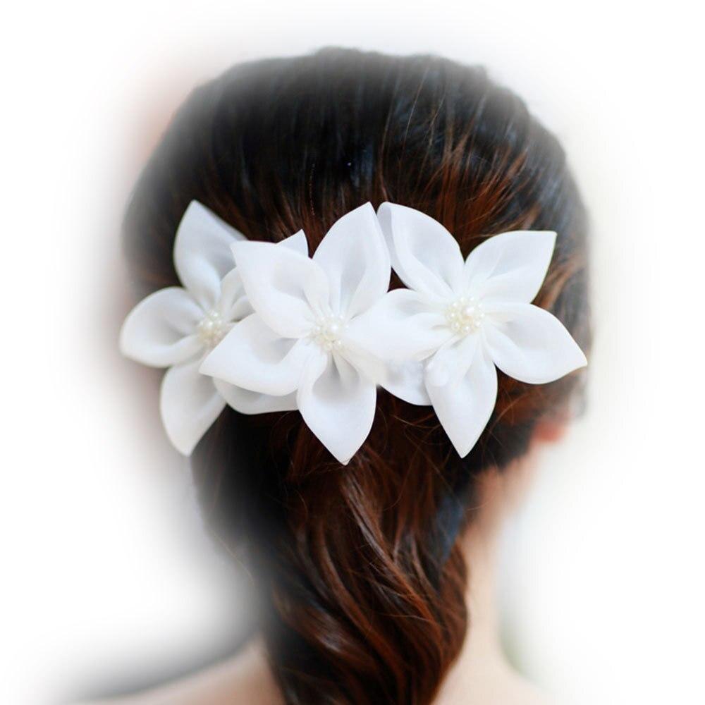 Aliexpress Buy 1x Fresh Lily White Flower Bridal Hairpin Hair