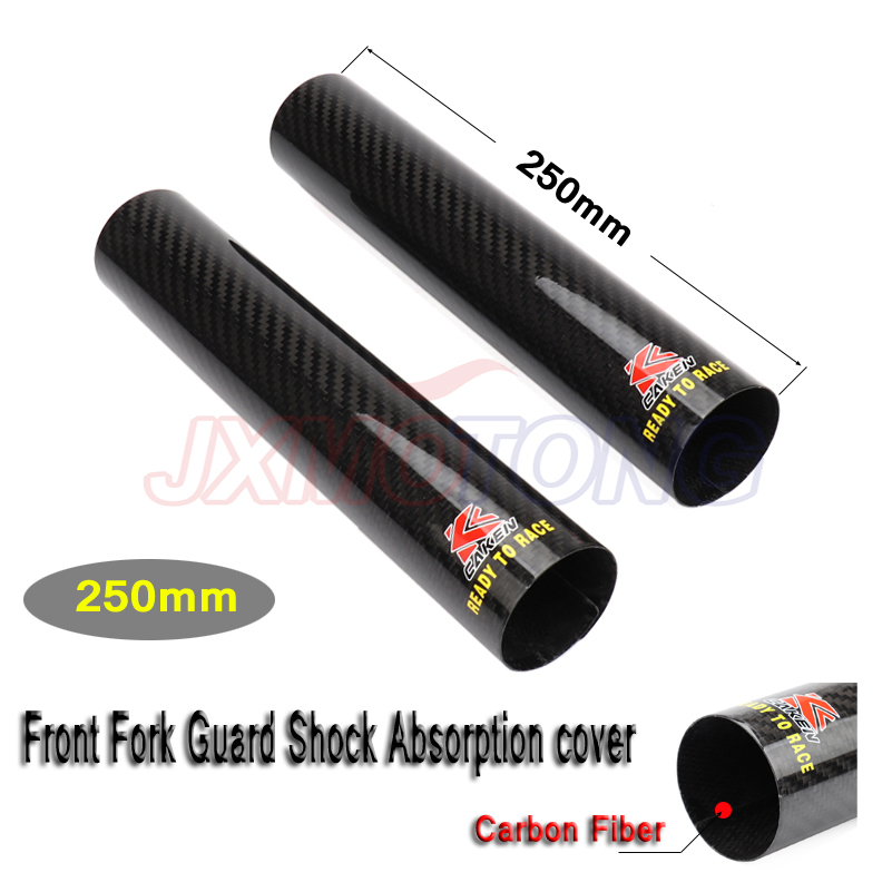 250 52mm Carbon Fiber Front Fork Shock Absorption Guard Wrap Cover For Motocross Honda KTM Kawassaki