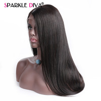 Peruvian 360 Lace Front Wigs Pre Plucked With Baby Hair Straight Human Hair Wigs For Women 10 24 inch Remy Hair sparklediva