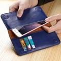 5.5 ''universal genuíno carteira de couro pouch case capa para samsung galaxy note 5 Borda Borda S6 S7 S7 S5 S6 A5 A7 Cartão J5 J7 Slots
