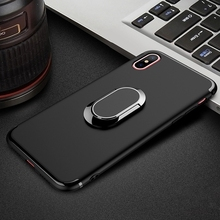 Metal Ring Stand Phone Case Cover With Magnetic Adsorption 360 Rotation Holder for iPhone