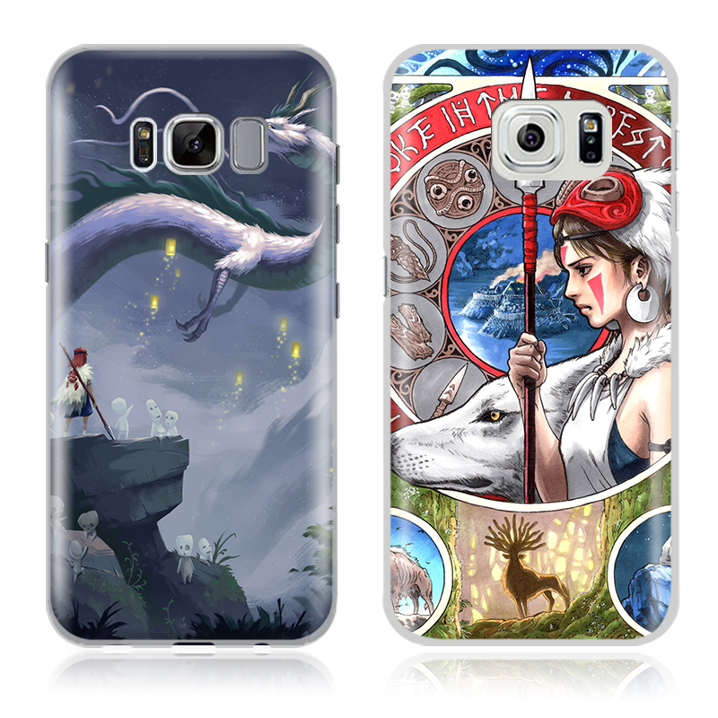 Princess Mononoke Mobile Cell Phone Case Shell Cover Bag For Samsung Galaxy S4 S5 S6 S7 Edge S8 Plus Note 2 3 4 5 C5 C7 A8 A9