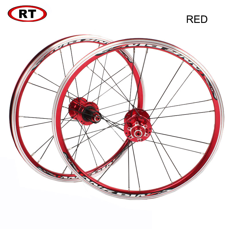 "Image 3 - 20"" Folding Bike Wheels Front Rear wheels set 100/135mm V&Disc brake 451/406 7 10s Aluminum Rims For BMX Bicycle Wheelset-in Bicycle Wheel from Sports & Entertainment"