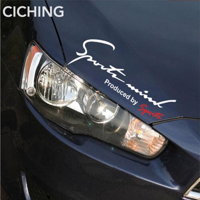 Etiqueta engomada del coche de los deportes 3D etiqueta engomada de la insignia de PVC cromada para la lámpara del bonnet pegatina del espejo retrovisor de la ceja
