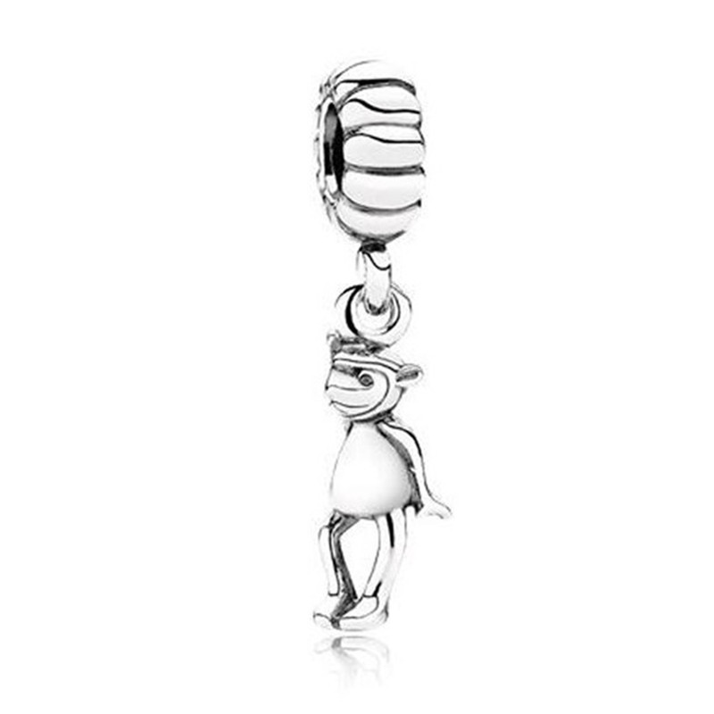 Beads & Jewelry Making Authentic 925 Sterling Silver Animal Pendant Bead Monkey Hanging Charm Fit Original Pandora Bracelet Bangle Women Diy Jewelry Quality First Jewelry & Accessories