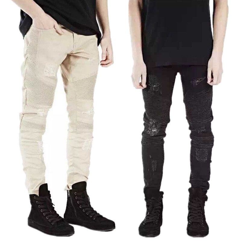 Online Get Cheap Cool Ripped Jeans for Men Skinny Distressed Slim ...