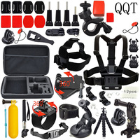 QQT for GoPro Accessories Set Kit for Gopro Hero 7 6 5 Black Go Pro Hero 4/3 + / 3/2 1 Sports camera accessories