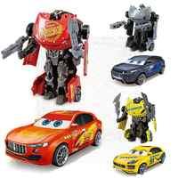 Disney Pixar Figure Giocattoli Trasformazione Auto In Lega 3 Saetta McQueen Jackson Tempesta Modello di Robot Action Figure Regalo per I Bambini