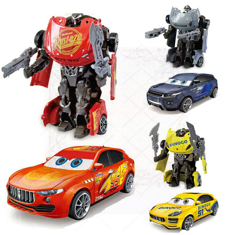 Disney Pixar Figure Toys Transformation Alloy Cars 3 Lightning McQueen Jackson Storm Model Robot Action Figure Gift For Children