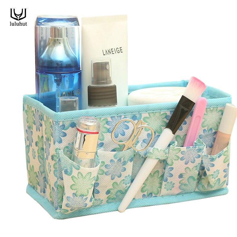 luluhut storage box folding beauty cosmetic organizer multifuction make up box sundries jewelry box non-woven storage organizer