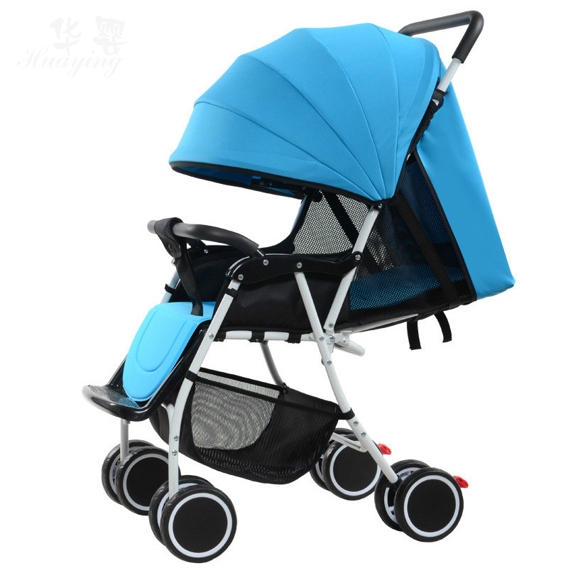 baby stroller can sit lie fold reticulate air permeability Light high landscape umbrella baby trolley summer and winter все цены