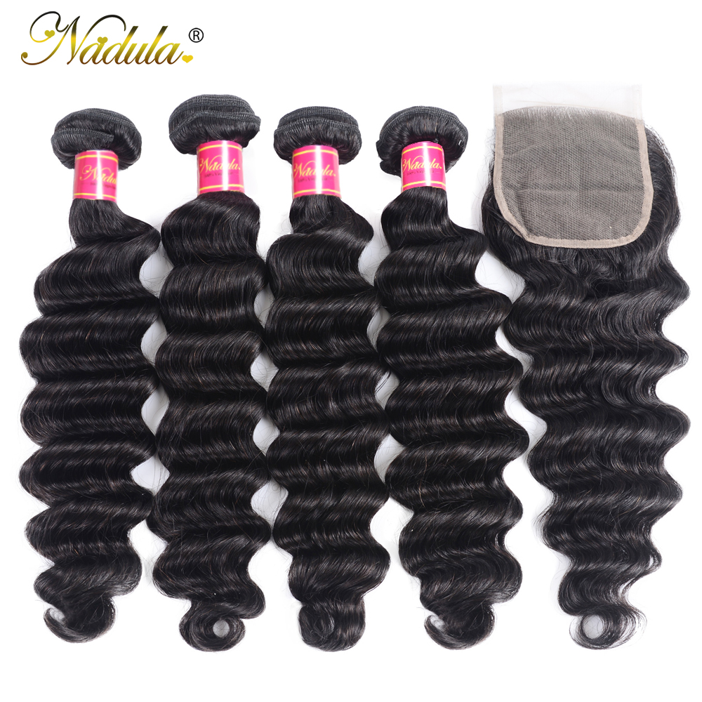 Nadula Hair Loose Deep Bundles With Closure    Bundles With Closure  Hair Bundles With Closure 3