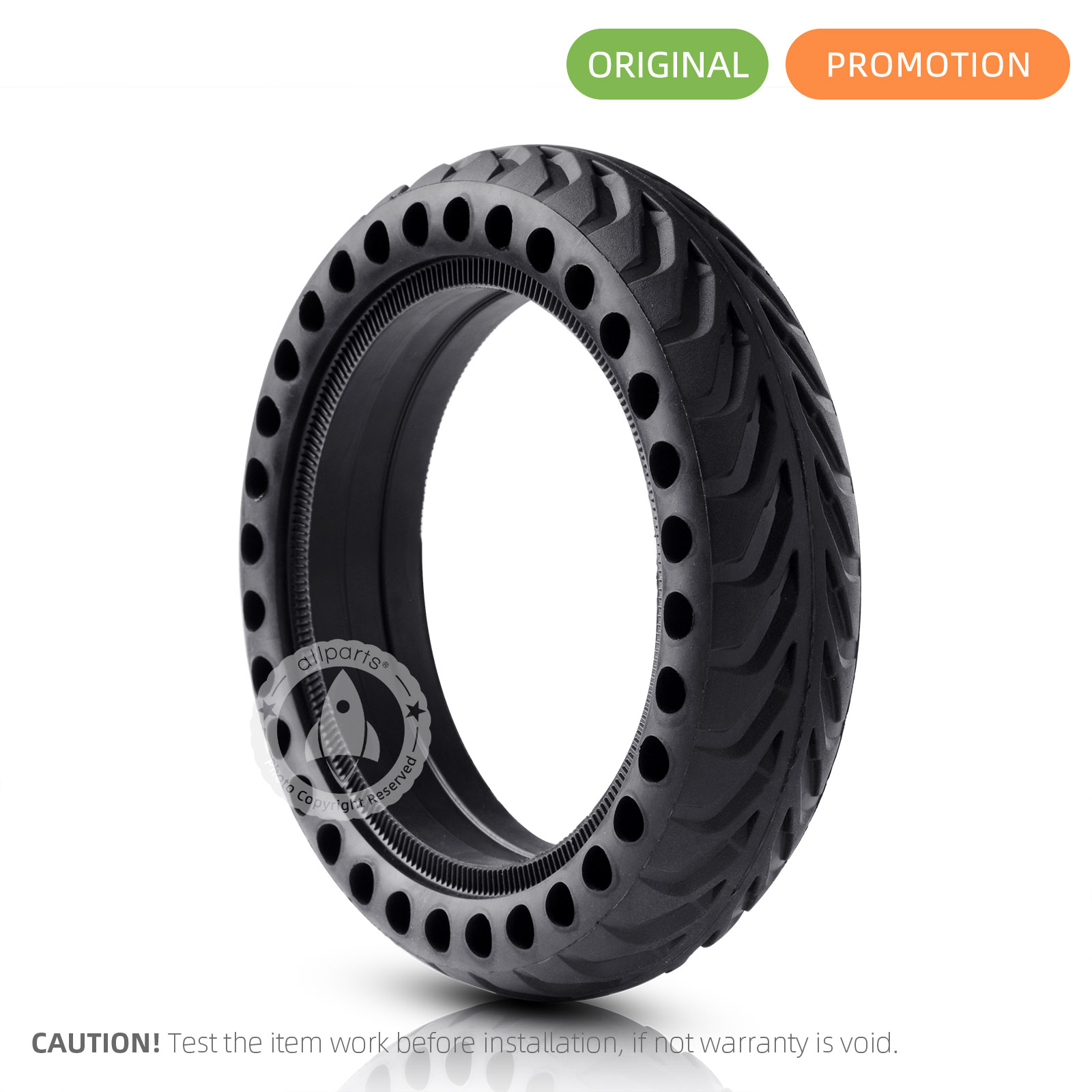 Xiaomi M365 Scooter Solid Tyre Non-Pneumatic Shock Absorber Damping Rubber Wheel
