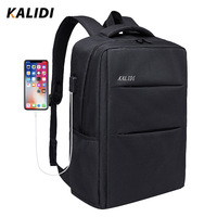 KALIDI 15.6 inch laptop Backpack Anti theft Waterproof Men 17.3 inch Laptop bag For Macbook Air Pro 13 14 15 Student Backpack