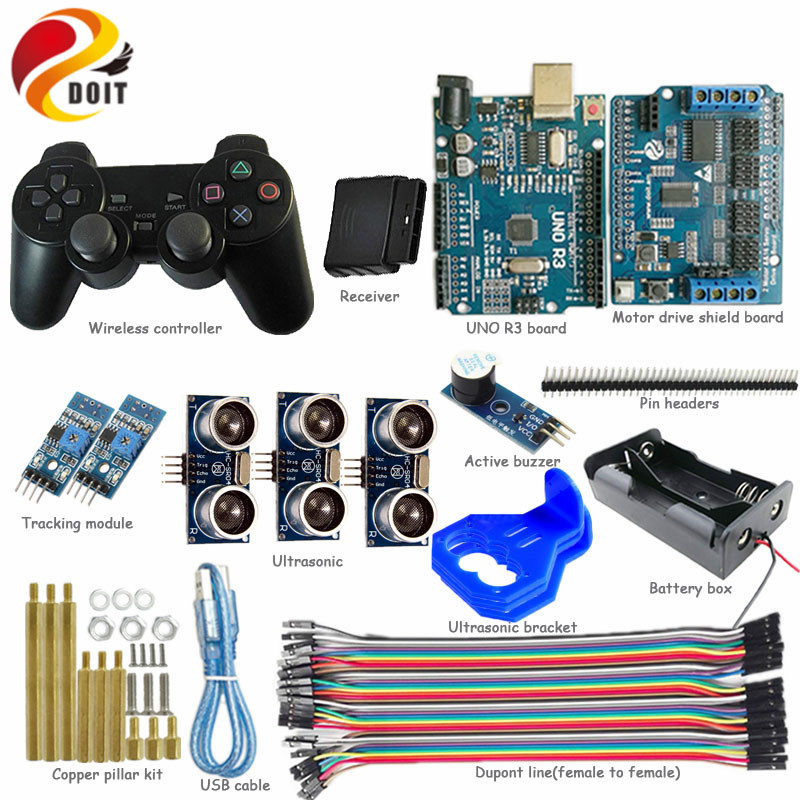 DOIT Wireless handle/joystick Control kit for Robot Crawler Tank Car Chassis with Arduino Unltrasonic Obstacle Avoidance DIY Toy path planning and obstacle avoidance for redundant manipulators
