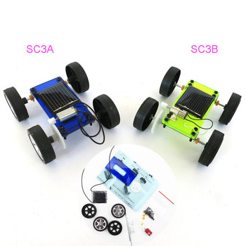 Hot 1 pcs DIY Solar Power Mini Powered Toy Car Kit Robot Moving Racer Children Educational Gadget Hobby Funny Solar Car W508