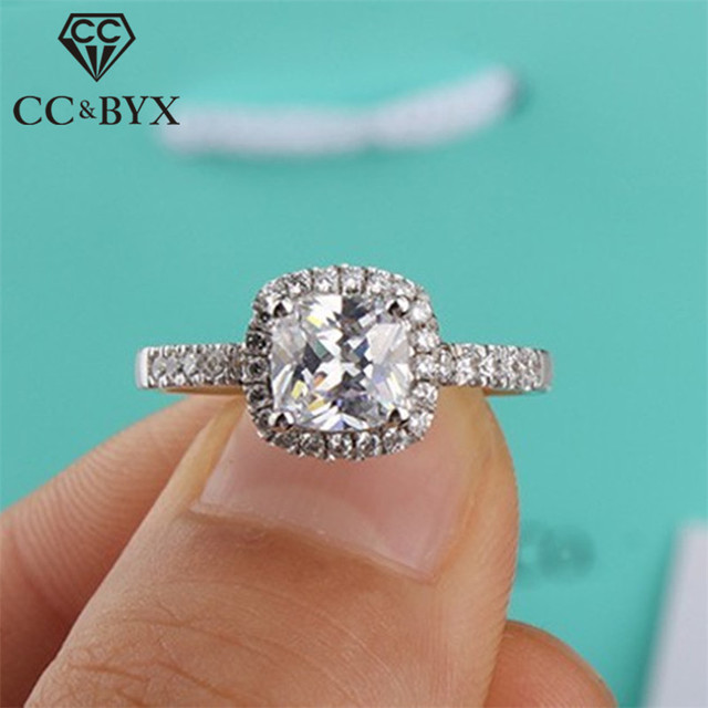 CC Vintage Rings for Women Engagement Wedding Classic Cincin Wanita Ring 2017 Fashion Jewelry Anillo Bijoux Femme Bague Anel