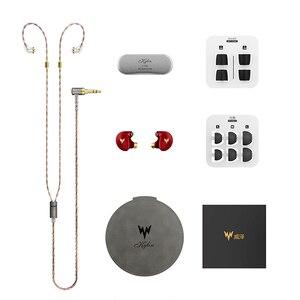 Image 5 - Kulaklık A HE03 HiFi bas kulaklık yüksek çözünürlüklü kulaklıklar hibrid armatür 2Pin konektörü 3.5mm kulak monitörler HiFi kulaklıklar kulaklı