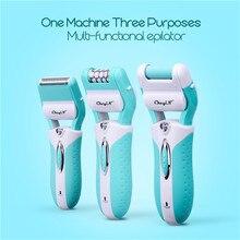 Depiladora eléctrica 3 en 1 para mujer, depiladora recortadora para mujer, depiladora corporal, recortadora para mujer, afeitado, piel muerta con callosidades 49