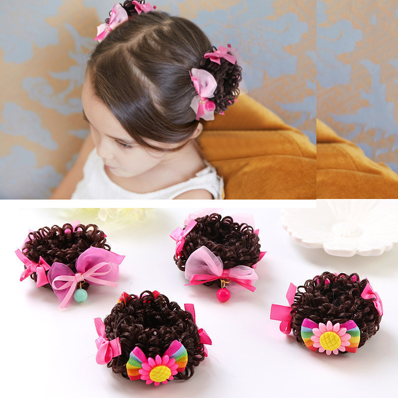 1pc Mixed Color Bowknot Gold Powder Hair Clip Accessories For Girls Babies 1 Set