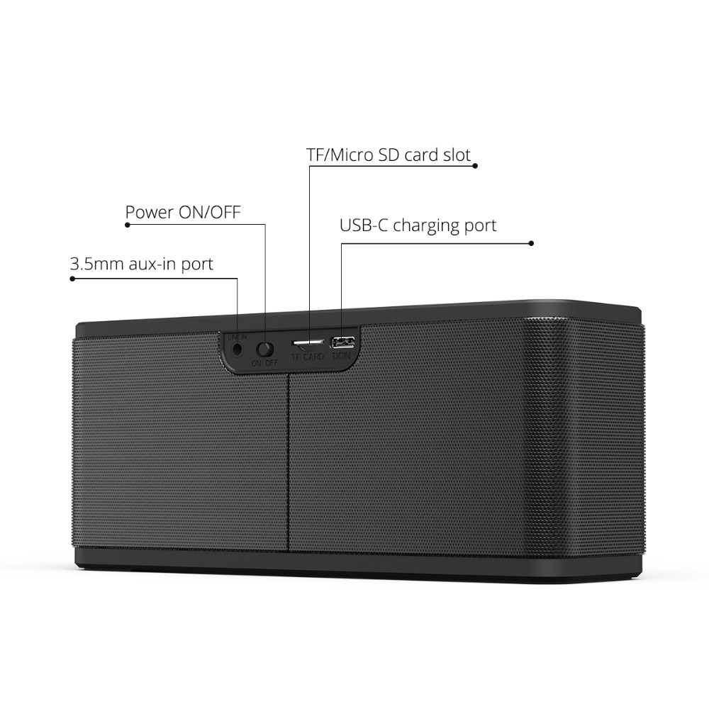 Tronsmart Mega Bluetooth 5.0 Speaker Voice Assistant Portable Speaker 40W Wireless Speaker Soundbar with TWS,NFC,MicroSD Card (9)