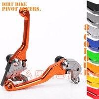 CNC Pivot Racing Dirt Bike Foldable Brake Clutch Levers For KTM 250 525 XC F SX