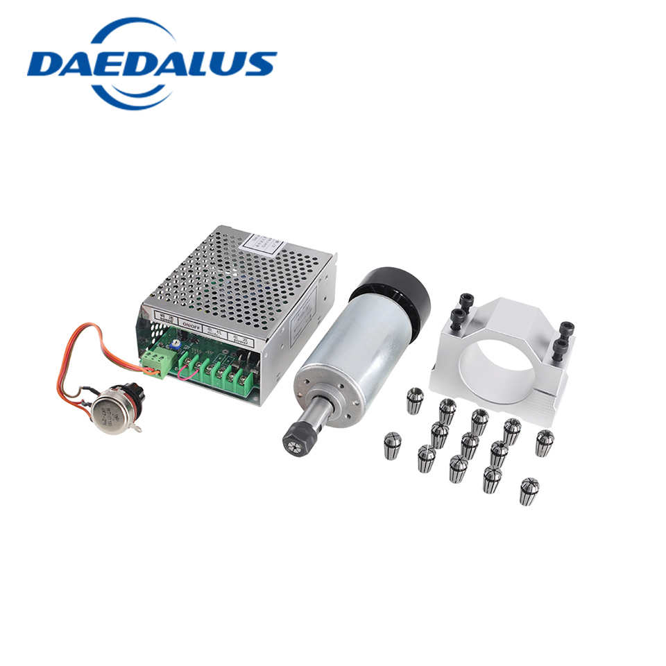 CNC Spindle 300W for Milling machine CNC Router Tools 110V-220V Adjustable Power Supply 52mm Spindle Clamp 13pcs ER11 chuck cnc spindle motor 300w air cooled spindle er11 milling router tools 110v 220v adjustable power supply 52mm clamp collet chuck