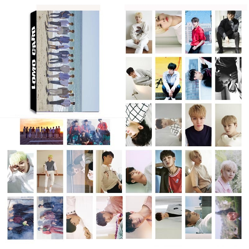 Business Cards Orderly Fashion 30pcs/set K-pop Seventeen Album Paper Photo Card Diy Lomo Card Postcard Kawaii Stationery Gift