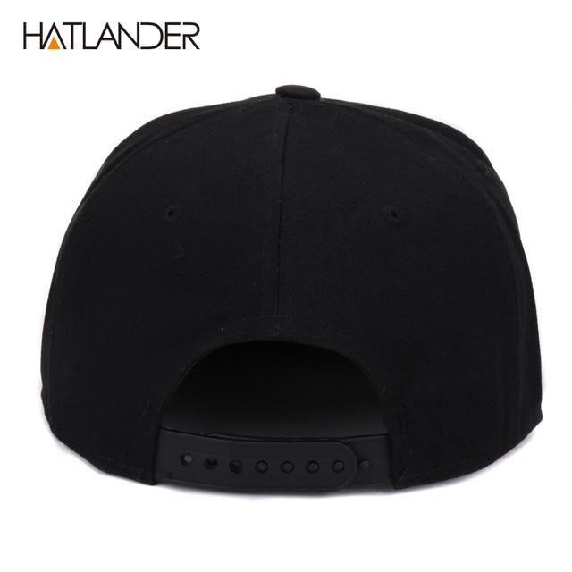 [HATLANDER]Embroidery Skull baseball caps hats hip hop snapbacks flat brim bones gorra sports snapback caps for men women unisex