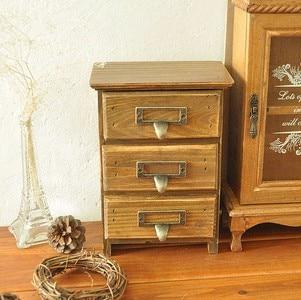 Spécial rétro européen faire l'ancienne épicerie en bois trois pompage tiroir boîte de rangement boîte en bois