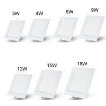 AC85~265V SMD 3528 3W 4W 6W 9W 12W 15W 25W  Cold white/warm white LED Ceiling Downlights Square Panel Lights