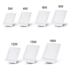 цена на AC85~265V SMD 3528 3W 4W 6W 9W 12W 15W 25W  Cold white/warm white LED Ceiling LED Downlights Square Panel Lights