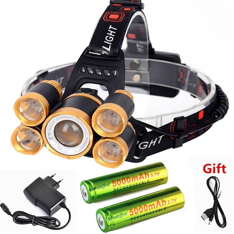 15000LM 3x XML T6 LED Head Bicycle Bike Light Waterproof Headlight Torch 4*18650