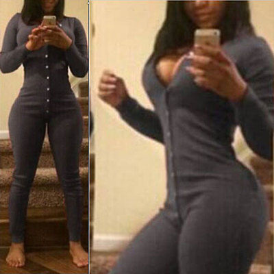 Womens Black Romper 2016 Long Sleeve Combinaison Sexy V Neck Bodysuit Pockets Women One Piece Jumpsuit Long Pant
