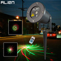 ALIEN 12 Patterns Red Green Laser Projector Waterproof Outdoor Remote RG Landscape Lighting Garden Christmas Holiday Lawn Lights
