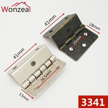 4 sztuk partia długość 41mm żelaza w stylu Vintage Antique Carbinet zawias szuflady drewniane meble biżuteria pudełko mosiężny zawias zawias do mebli tanie i dobre opinie Meble zawias 3341 Wonzeal Maszyny do obróbki drewna 40mm iron