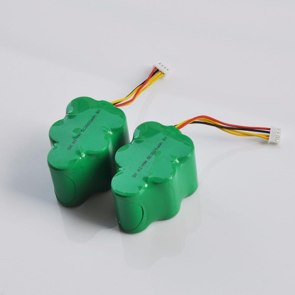 6 v sc ni-mh bateria recarregável 3800 mah para varrer ecovacs deebot deepoo aspirador de pó 650 660 680 710 720 730 760