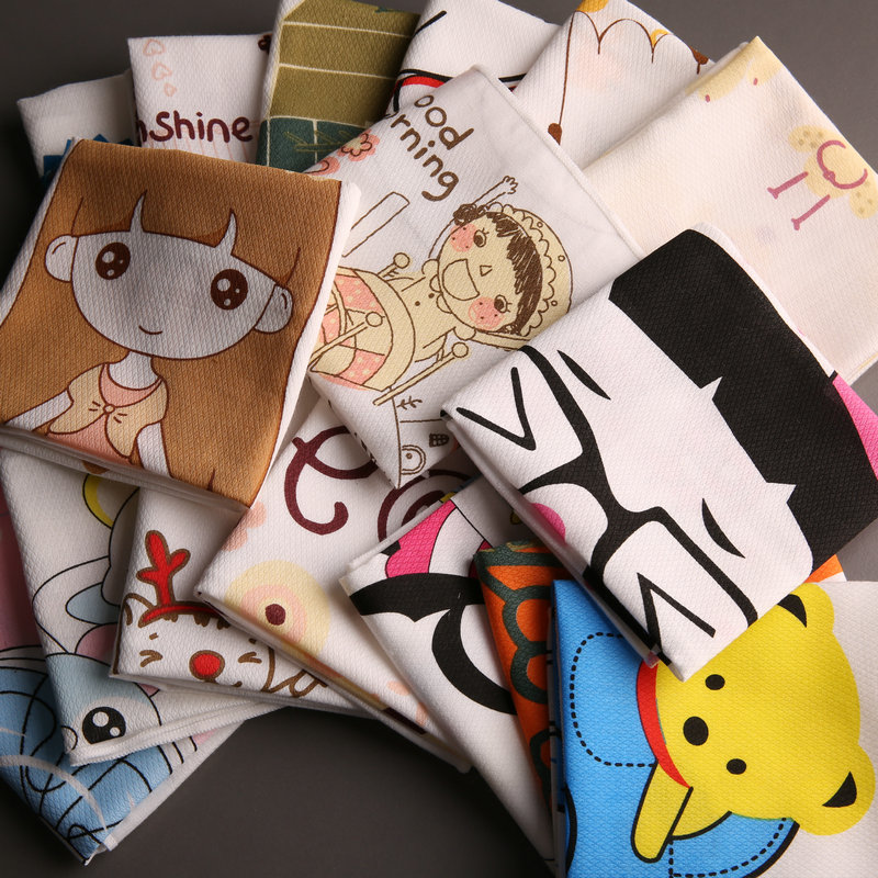 Baby Handkerchief 35*35cm Cartoon Cotton Children's Kindergarten School Boys Girls Handkerchief