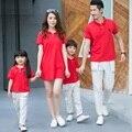 Семьи соответствующие наряды свободного покроя семья одежда / мать и дочь отец сына одежды одежда семья топы одежда CH61